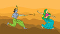 Krishna Playing Holi With Gopi