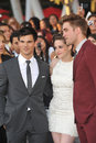 Kristen Stewart,Robert Pattinson,Taylor Lautner Royalty Free Stock Photography