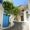 Kritsa village in Crete island Royalty Free Stock Images