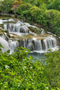 Krka river waterfalls in the Krka National Park Stock Image