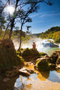Krka sunshine falls Stock Photography