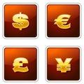 Królewscy znaki waluty Obraz Royalty Free