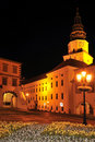 Kromeriz Castle at Night Royalty Free Stock Photo