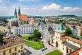 Kromeriz castle unesco in kromeriz moravia czech republic st moric church and square Royalty Free Stock Images