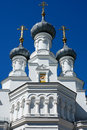 Kronstadt a fragment of an orthodox cathedral the the vladimir icon the mother god Stock Images