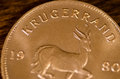 Krugerrand (word) South African Gold Coin Royalty Free Stock Photo