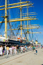 Krusenshtern standing in the dock at the tallinn s sea days estonia july event on july estonia Royalty Free Stock Images