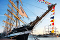Krusenstern in port Royalty Free Stock Images