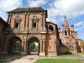 The Krutitskiy Teremok, the Resurrection passages and the Holy gate in the Krutitsy Monastery metochion Royalty Free Stock Photo