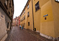 Krzywe Kolo street in Old Town of Warsaw Royalty Free Stock Photo