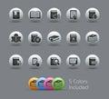Książkowych Icons//Perłowe Serie Zdjęcia Royalty Free