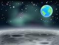 Księżyc przestrzeni ziemi tło c Zdjęcie Stock