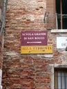 Kształcenie włochy Wenecji Fotografia Stock