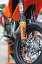 KTM Supermoto suspension Royalty Free Stock Images