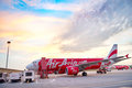 Kuala lumpur airport malaysia may airasia jet airplane in in its been named as world s best low cost Stock Image