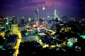 Kuala Lumpur City Centre at Dusk Royalty Free Stock Photography