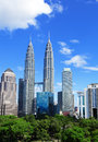 Kuala lumpur city in daytime with twin tower Royalty Free Stock Photo
