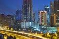 Kuala Lumpur city skyline at night