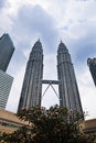 Kuala lumpur feb view of the petronas twin towers on feb in malaysia this famous landmark malaysia are tallest Royalty Free Stock Photos
