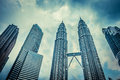 Kuala lumpur feb view of the petronas twin towers on feb in malaysia this famous landmark malaysia are tallest Royalty Free Stock Image