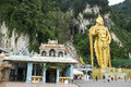 people at Batu caves hindu temple  Kuala Lumpur malaysia Royalty Free Stock Photo