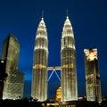 Kuala Lumpur, Malaysia  Petronas towers. Royalty Free Stock Photo