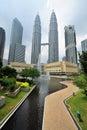 Kuala lumpur petronas twin towers malaysia Royalty Free Stock Photos