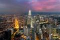 Kuala lumpur skyline in night, Malaysia, Kuala lumpur is capital