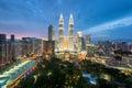 Kuala Lumpur skyline and skyscraper in Kuala Lumpur, Malaysia. Royalty Free Stock Photo