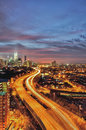 Kuala lumpur sunset pink colour around second in malaysia Stock Photography
