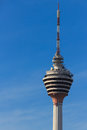 Kuala lumpur telecommunication tower a view of kl telecommunications where a revolving restaurant is located at one of the levels Stock Photo