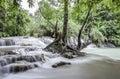 Kuang si falls beautiful located in luang prabang laos great spot for swimming and relaxing Stock Image
