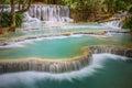 Kuang Si Waterfall, Luang prabang, Laos Royalty Free Stock Photo