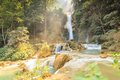 Kuang si waterfalls at laos beautiful Stock Photography