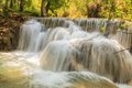 Kuang si waterfalls at laos beautiful Royalty Free Stock Photo