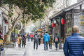 Kuanxiangzi alley broad alley scenery this photo was taken in kuanzaixiangzi and narrow chengdu city sichuan province china being Royalty Free Stock Photos