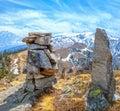 Kuari Pass top Himalaya Royalty Free Stock Photo