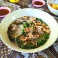 Kuay teow reua noodle hot thai Stock Photography