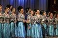 Kuban patriotic songs folk ensemble kazachya volnitsa in rostov on don russia october beautiful ethnic dance and Stock Images