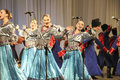 Kuban songs folk ensemble kazachya volnitsa in rostov on don russia october beautiful ethnic dance and patriotic Royalty Free Stock Photos
