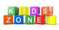 Kuber med ungar Zone undertecknar Fotografering för Bildbyråer