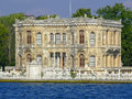 Kucuksu palace in istanbul at bosphorus Stock Images