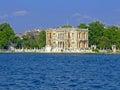 Kucuksu palace istanbul in at bosphorus canal Stock Photography