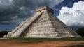 Kukulkan pyramid , Chichen Itza , Mexico Royalty Free Stock Photo