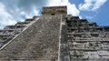 Kukulkan pyramid in chichen itza on the yucatan peninsula mexico Stock Photo