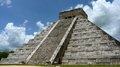 Kukulkan pyramid in chichen itza on the yucatan peninsula mexico Royalty Free Stock Photo
