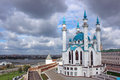 The Kul Sharif mosque in Kazan Royalty Free Stock Photo