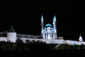 Kul-Sharif mosque in Kazan Kremlin at night Royalty Free Stock Photo