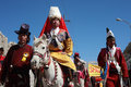 Kulturell procesion under den Ladakh festivalen Arkivfoto