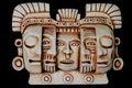 Kulturföremål maskerar mayan Fotografering för Bildbyråer
